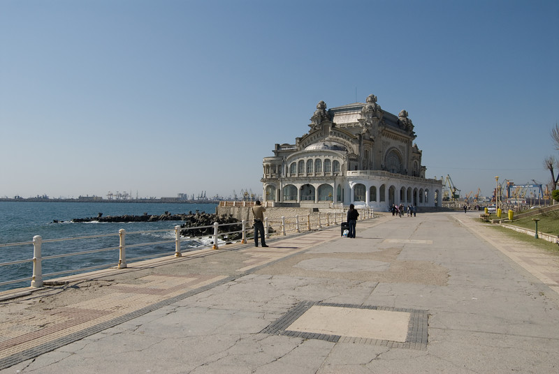 The Casino on the Black Sea Promenade in Constanta.