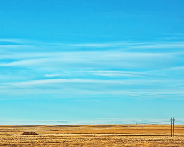 This is pretty much how Nebraska looks, flat and lots of sky!