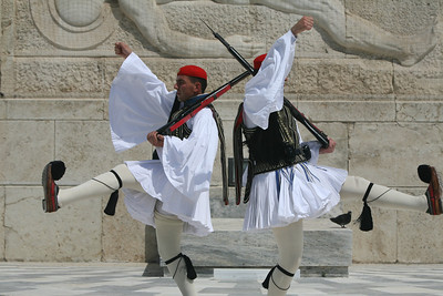 Change Guards at Tomb of the Unknown Soldier, Athens, Greece