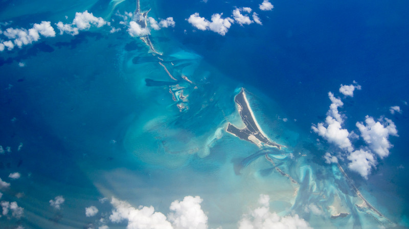 Islands, water, and clouds...