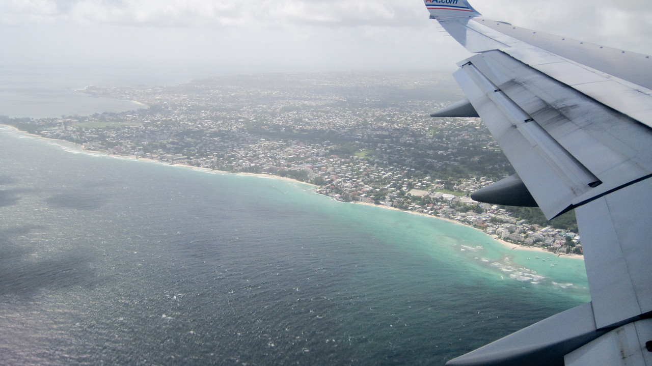 Approaching Barbados Airport in Bridgetown