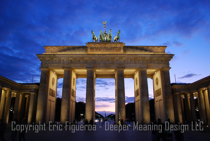"""The Brandenburg Gate""  Berlin, Germany"