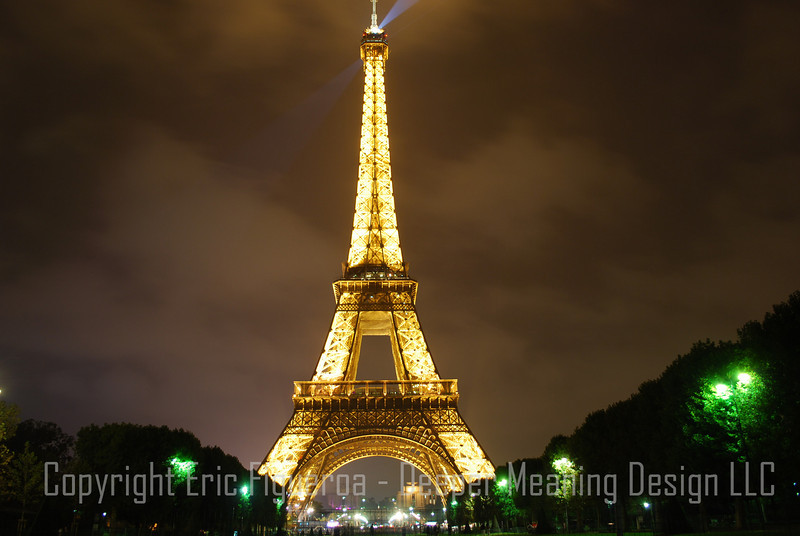 """The Effiel Tower and Mall""  Paris, France"