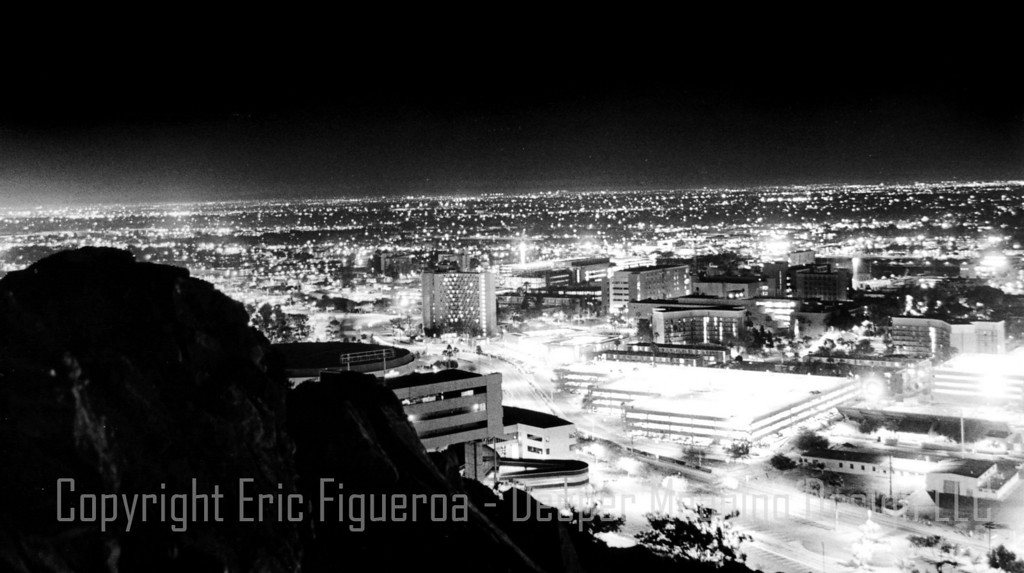 """View from 'A' Mountain""  Tempe, Arizona  U.S.A."