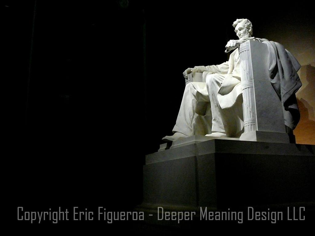 """Lincoln's Glow""   - Lincoln Memorial, Washington D.C.     U.S.A."