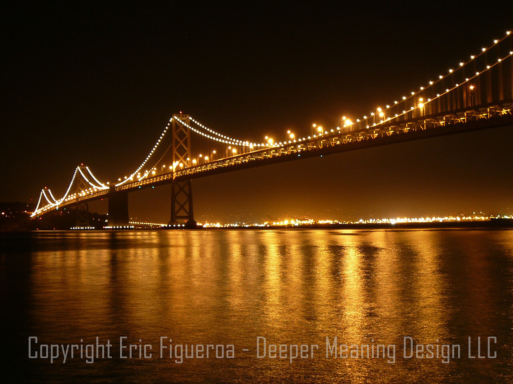 """The Bay Bridge""  San Francisco, California   U.S.A."