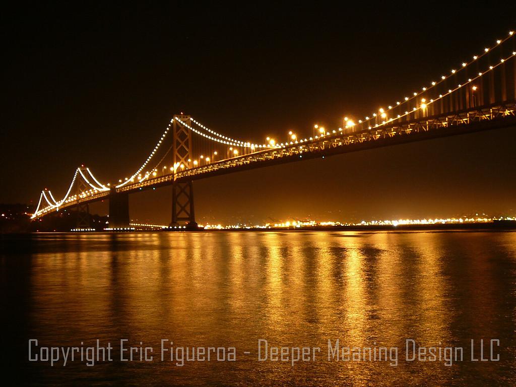 """The Bay Bridge""  San Francisco, California   U.S.A."