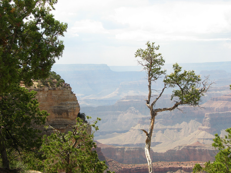To even remotely put things in perspective, check out the people on the cliff to the left.  The shear size of the Grand Canyon can not be put into words.
