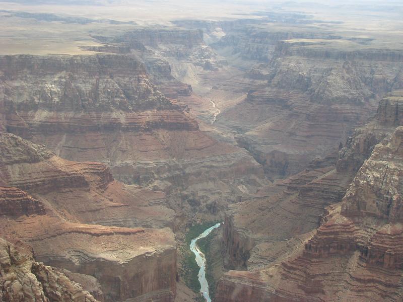 Colorado River over a mile below us