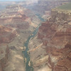 The south rim of the Grand Canyon is to your right, with the Colorado River below.  A very sureal experience.