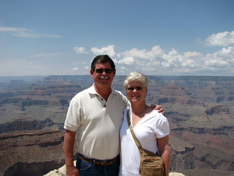 Ron & Lynda on the south rim of the Grand Canyon