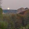 Red Rock moonrise from Oak Creek