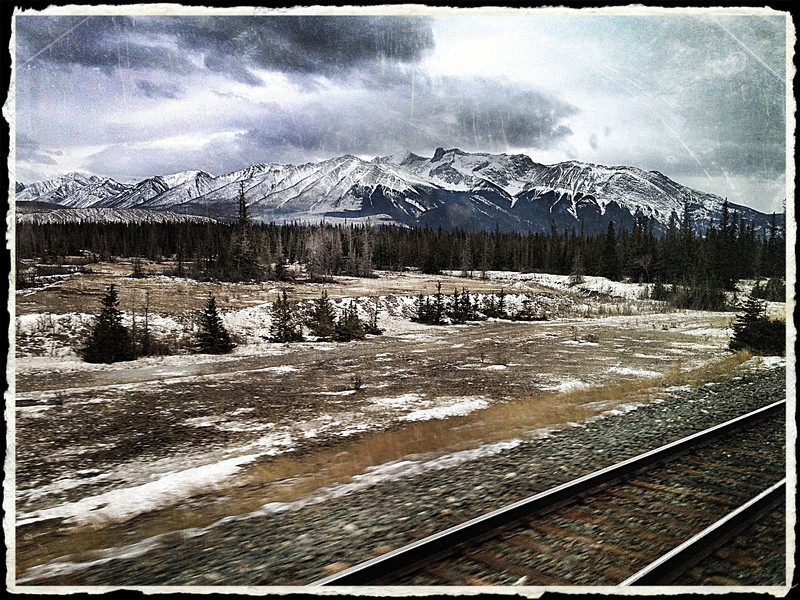 After travelling many miles across the Prairies, the Rockies do startle you once they appear as if out of nowhere...
