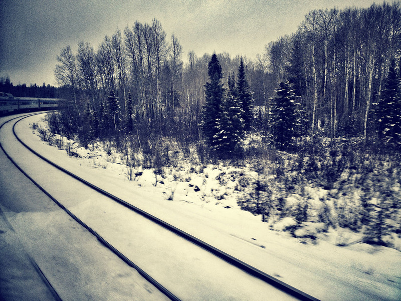 The best snaps to take on the train are the ones where you can see the train ahead as it rounds a bend.