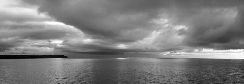 """The sky on this crossing was definitely """"moody"""" and lends itself to a black and white treatment. I can still feel the fresh ocean air on my face when I look at this snap."""