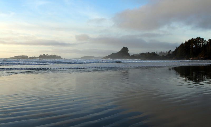 Stunning Long Beach Tofino, at last! Just in time to catch the sunset!
