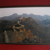 """The Jinshanling Great Wall, 50"""" X 32"""" and framed on the wall of my living room."""