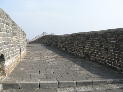The fully-restored Jinshanling Great Wall.  Very comfortable after rock-hopping all day.