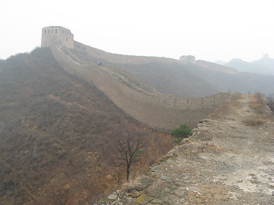 A Chinese couple further up the Wall provide some perspective and scale.
