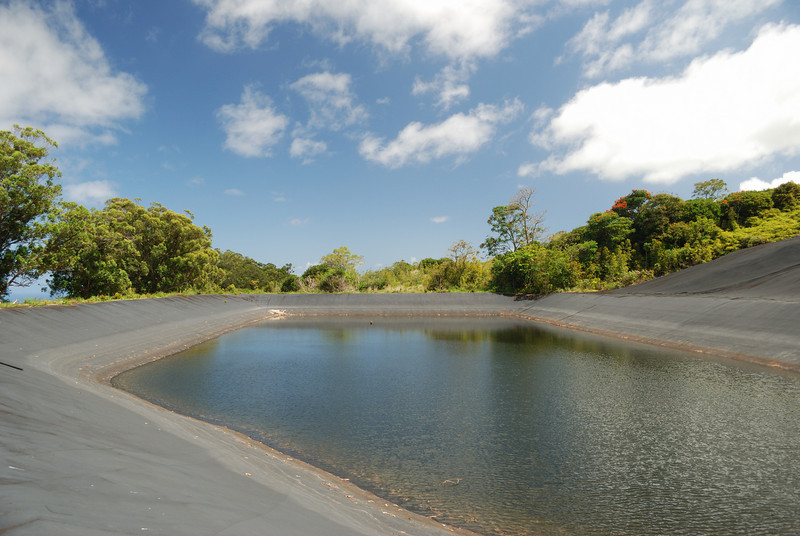 Water reservoir, upper Hana Ranch