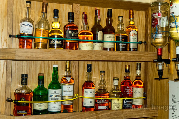 Aboard our vessel, you could have any type of whisky you wanted, as long as it was single malt Scots whisky.