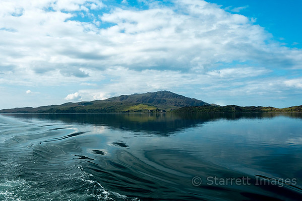 Leaving our calm overnight anchorage in Loch Melfort.
