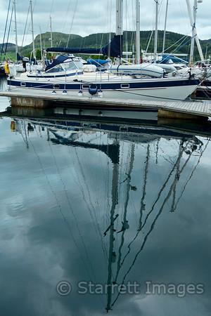 Reflections in Ardfern.