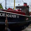 """66' long steam """"puffer"""", an old local freight boat.  There's another one in the Crinan boatyard being restored called Auld Reekie."""