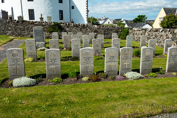 The cemetery of the round church,  Port Charlotte, Islay.