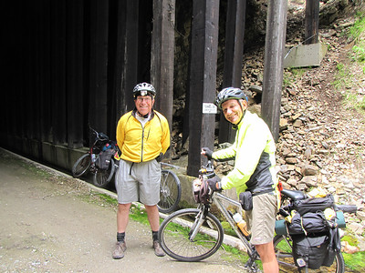 Bob and Mac... from California... they will ride the trail all the way to Avery today