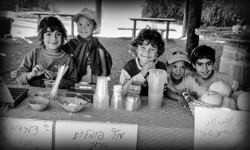 Israeli boys selling lemonade