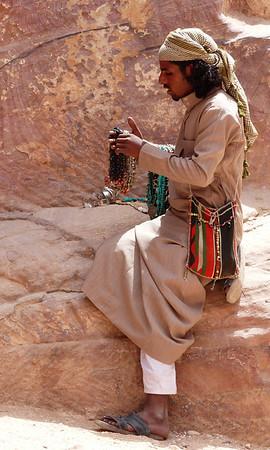 Jordanian jewelry merchant, Petra, Jordan