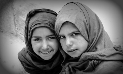Arab girls in Petra, Jordan