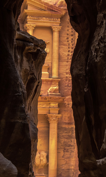 First View of The Treasury at Petra
