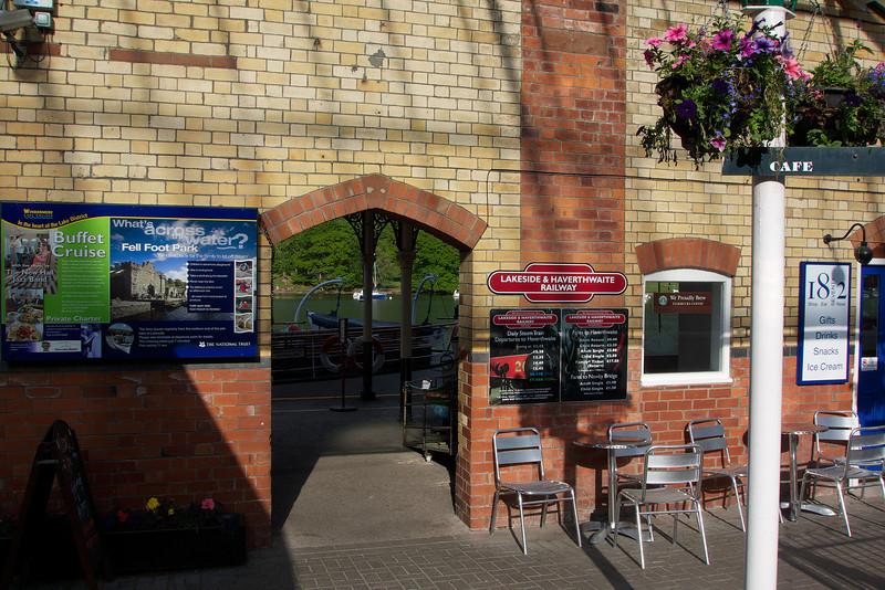 Lakeside station on the Lakeside and Haverthwaite Railway