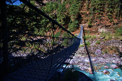 Anytime the trail crosses over from one mountain to another, we had to come down all the way to the river, cross it on a bridge, and climb back up on the other side. It became tiring pretty soon, and the bridges went from exciting in the beginning, to cumbersome at the end.