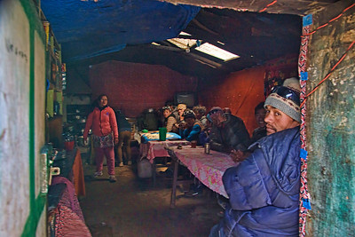 A local kitchen at Pheriche.