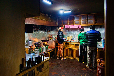 A busy kitchen at Lobuche!