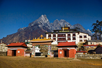 The Tengboche Monastery was set in some spectacular surroundings!