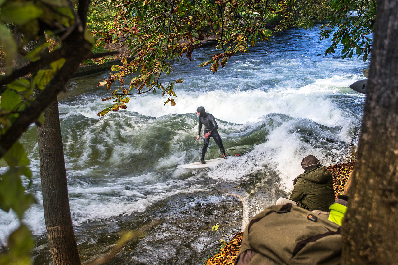Surfing at Eisbach