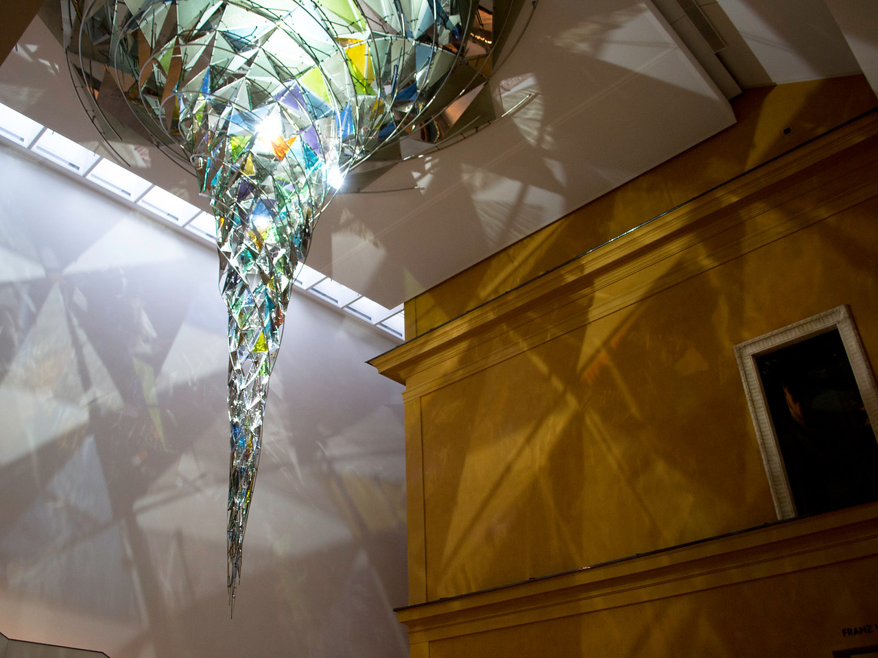 Lensbachhaus Museum. This is the gallery lighting when you arrive