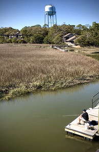 Marsh and Fisherman, Seabrook Island