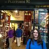Lexie at the Harry Potter Store at Platform 9 3/4, Kings Cross Station.  UK Vacation 2014-07-07