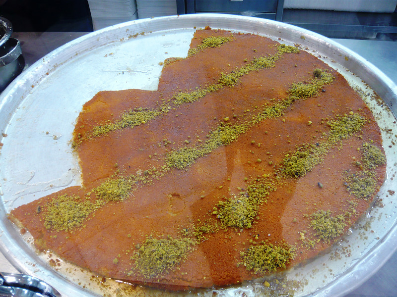 Another pan of Kunafa, the preferred dessert of locals.