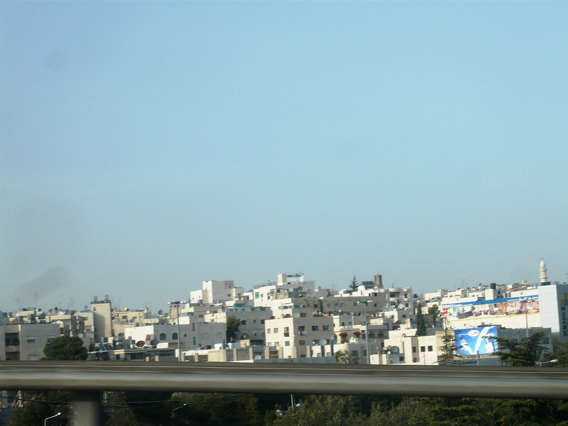 Apartment buildings in Amman as seen from our taxi back to the hotel.