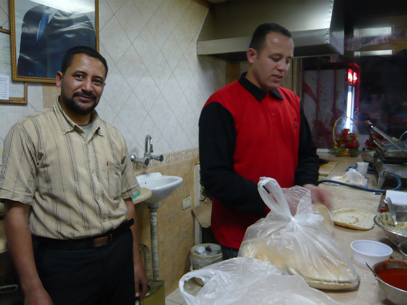 Owners of a local cafe near our hotel where we had some of the best and least expensive food in all of Jordan!