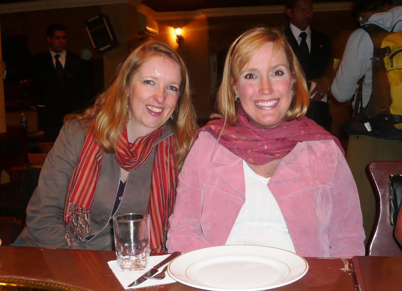 For dinner on our last night we went to Tawaheen Al-hawa restaurant. This is a shot of Sandra (one of the girls on the tour from the UK) and me just before the appetizers or mezze arrived.