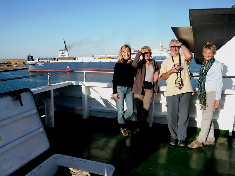 Me, Bev, Bill & Carol on the hydrofoil ship from Nuweiba, Egypt to Aqaba.