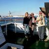 Me, Bev, Bill & Carol on the hydrofoil ship from Nuweiba, Egypt to Aqaba.
