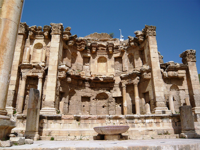 This is the Nymphaeum, or ornamental fountain, which was constructed in 190 AD.